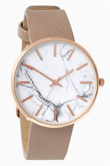 Marble Effect Face Watch
