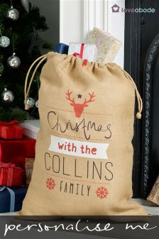 Personalised Christmas Family Sack By Loveabode