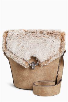 Faux Fur Across Body Bag