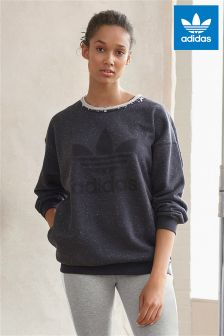 adidas Originals Black Marl Trefoil Sweater