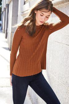Long Sleeve Rib Sweater