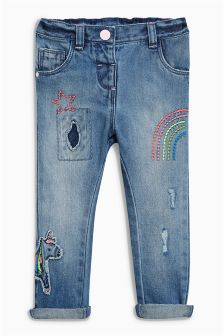 Unicorn Embellished Jeans (3mths-6yrs)