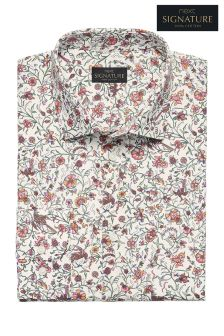 Signature Printed Slim Fit Shirt