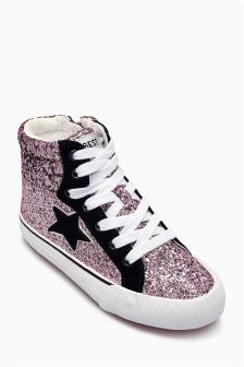 Retro High Top Trainers (Younger Girls)