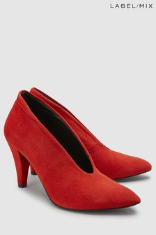 Mix/Hudson Red Stacey Suede Court Shoe
