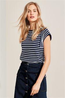 Stripe Contrast T-Shirt