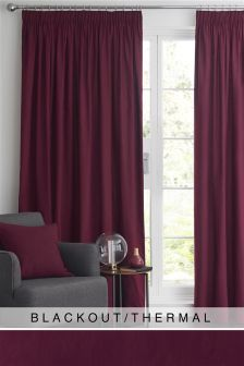 Cotton Studio* Pencil Pleat Blackout Curtains