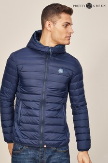 Pretty Green Navy Barker Jacket