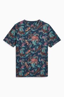 Oriental Print T-Shirt