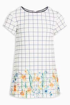 Grid Check Ponte Dress (3mths-6yrs)