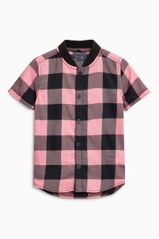 Check Pink Short Sleeve Shirt (3mths-6yrs)