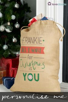 Personalised Christmas Sack By Loveabode
