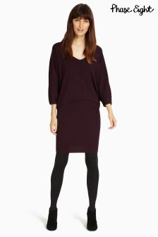 Phase Eight Merlot Carmen Knit Dress