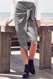 Check Tie Skirt
