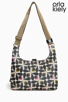 Orla Kiely Matte Laminated Sycamore Seed Mini Sling Bag
