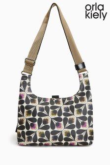 Orla Kiely Matte Laminated Sycamore Seed Mini Sling Bag