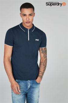 Superdry City Sport Zip Neck Polo