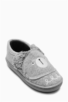 Bear Head Slippers (Younger Boys)