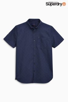 Superdry Navy Printed Short Sleeve Shirt