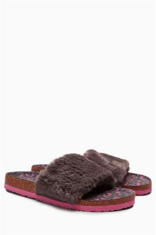 Faux Fur Slider Slippers