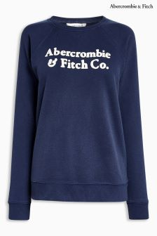 Abercrombie & Ftich Navy Crew Sweat