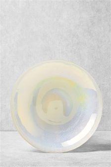 White Lustre Platter