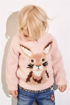 Rabbit Intarsia Jumper (3mths-6yrs)