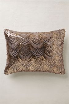 Fan Sequin Cushion