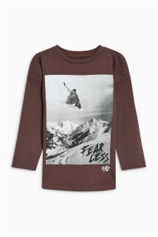 Long Sleeve Oversized Fit Graphic T-Shirt (3-16yrs)