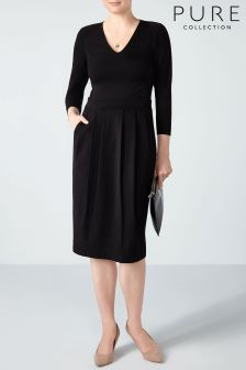 Pure Collection Black Heavy Jersey Dress