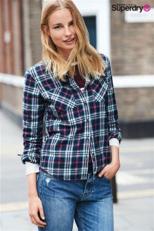 Superdry Navy Check Lumberjack Shirt