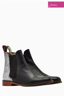 Joules Black Leather Chelsea Boot