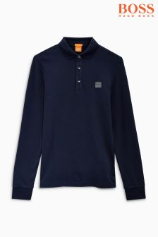 Boss Orange Long Sleeve Polo