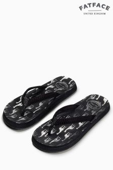 Fat Face Black Bay Metallic Giraffe Flip Flop