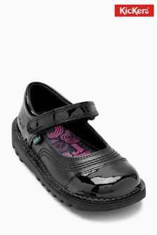 Kickers® Black Kick Pop Strap Shoe