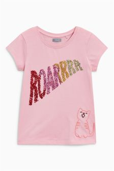 Sequin Slogan T-Shirt (3-16yrs)