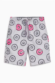 Doughnut Print Swim Shorts (3-16yrs)