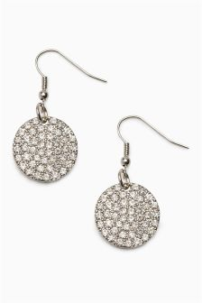Sparkle Back To Front Earrings