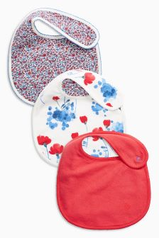 Poppy Regular Bibs Three Pack