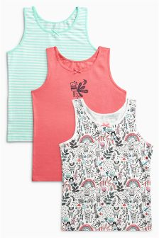 Printed Vests Three Pack (1.5-12yrs)