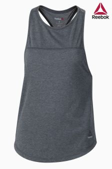 Reebok Grey Quik Cotton Muscle Tank