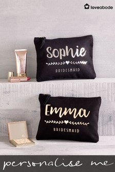 Personalised Bridesmaid Cosmetic Bag By Loveabode