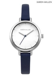 Karen Millen Blue Thin Strap Watch
