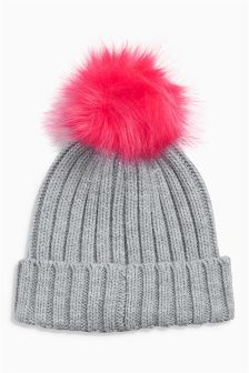 Detachable Pom Beanie (Older Girls)