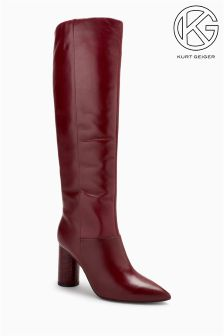 KG Burgundy Trance Leather Tall Boot