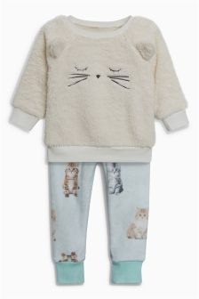 Cat Fleece Pyjamas (9mths-8yrs)
