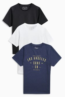 Crew Neck T-Shirt Three Pack