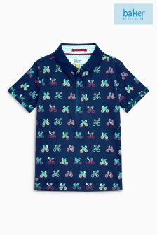 Baker By Ted Baker Conversational Bike Printed Poloshirt