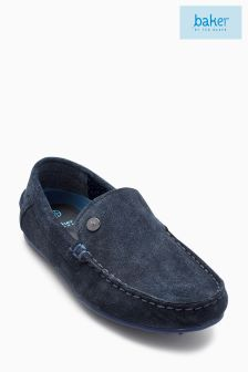 Baker By Ted Baker Younger Boys Blue Navy Suede Driver Shoe
