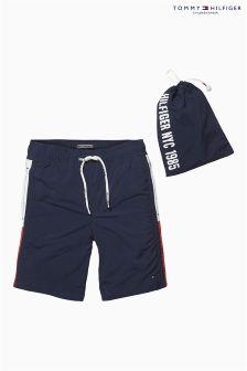 Tommy Hilfiger Navy Flag Swim Shorts